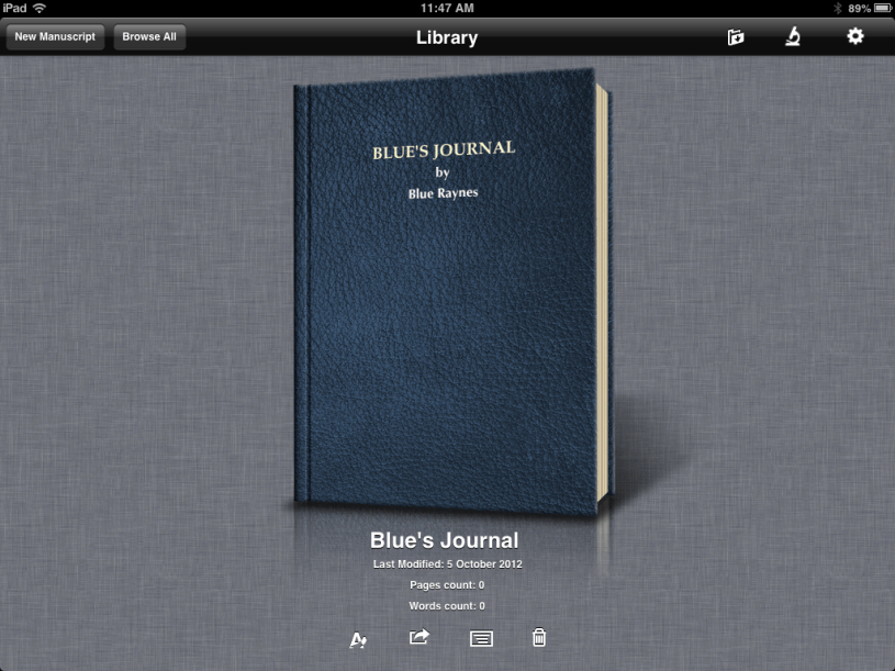 Journaling App for iPAD