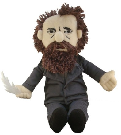 Charles Dickens doll - http://www.philosophersguild.com/Charles-Dickens-Little-Thinker.html