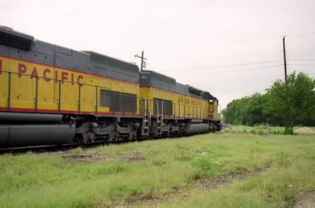 SD40-2 UP 4819 leading 4802 West Bound on the Vinson Lead