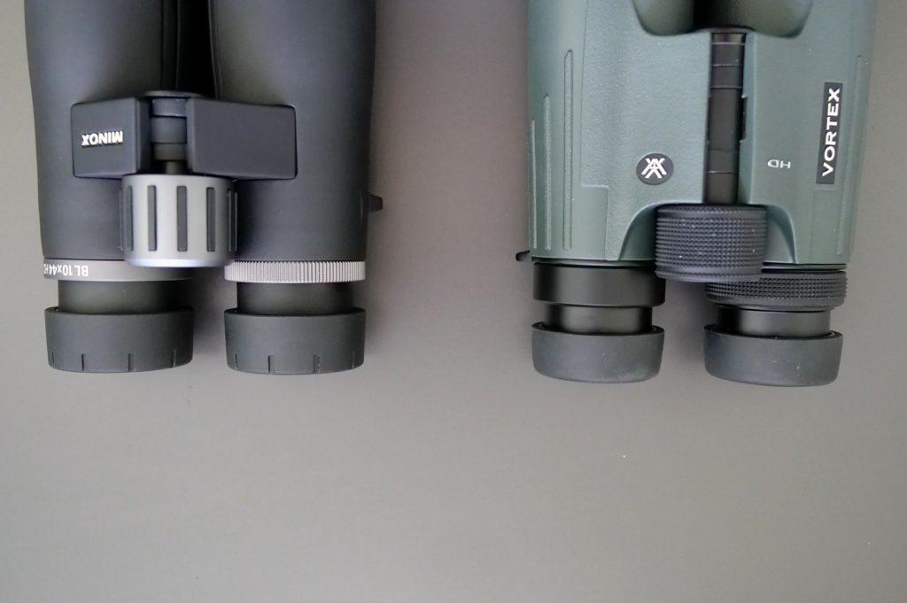 Minox BL 10x44 HD and Vortex Viper HD 10x42 Eyecups