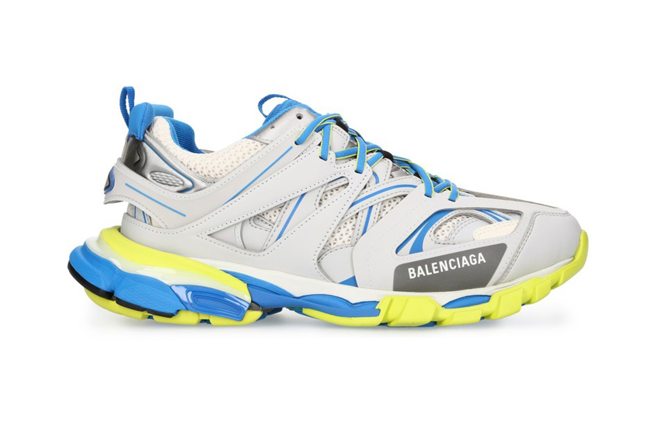 Balenciaga's Track Sneaker Lands in a Crisp Grey and Blue Colourway