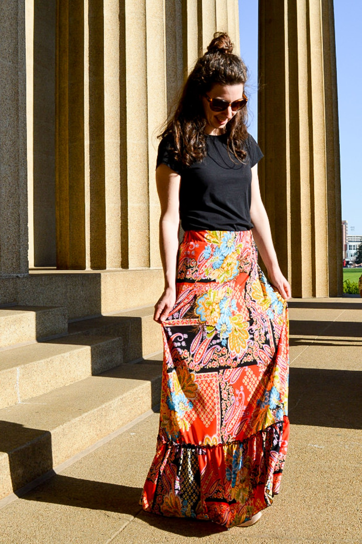 How I turned my dress into a maxi skirt
