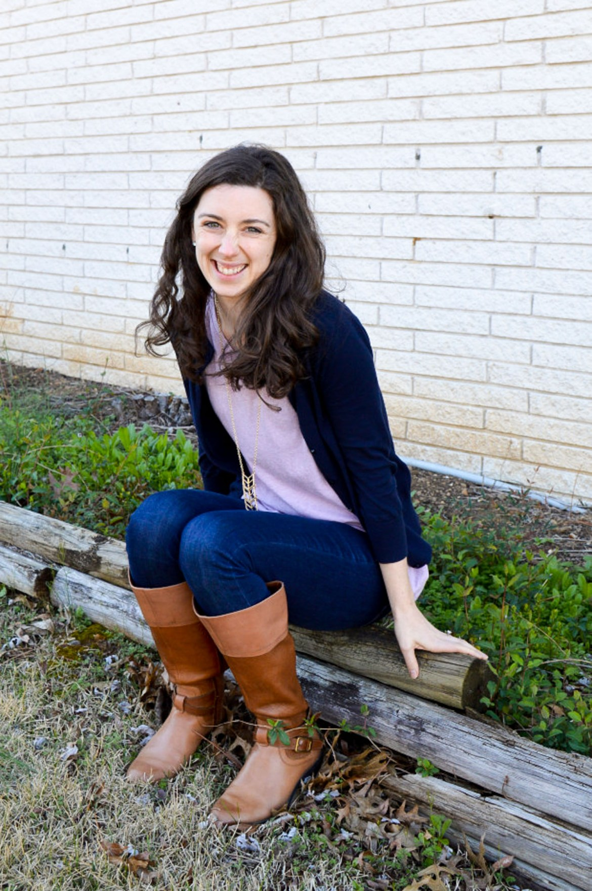Brown riding boots - possibly the most versatile item in your closet