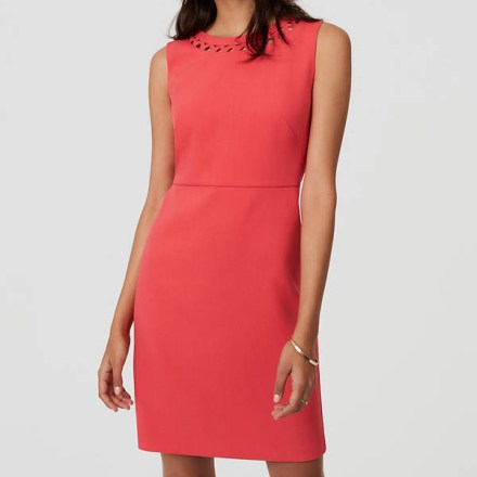 Easter Dress Options   Coral with Neckline Cutouts