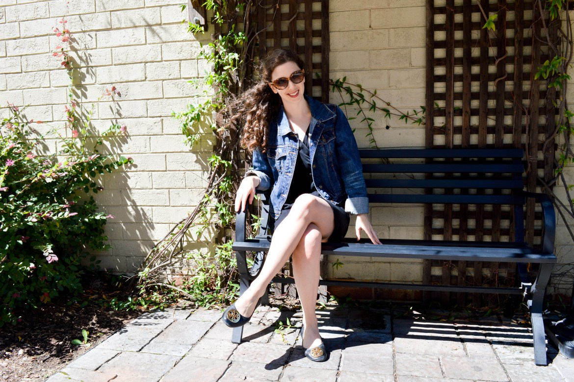 Cropped denim jacket | Perfect layered over a summer dress