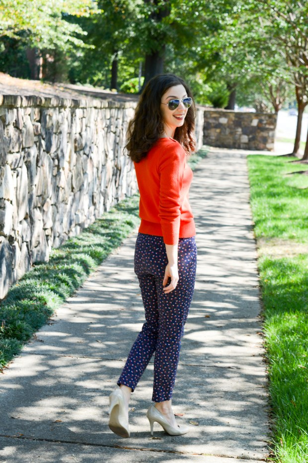 The best trick for styling patterned pants