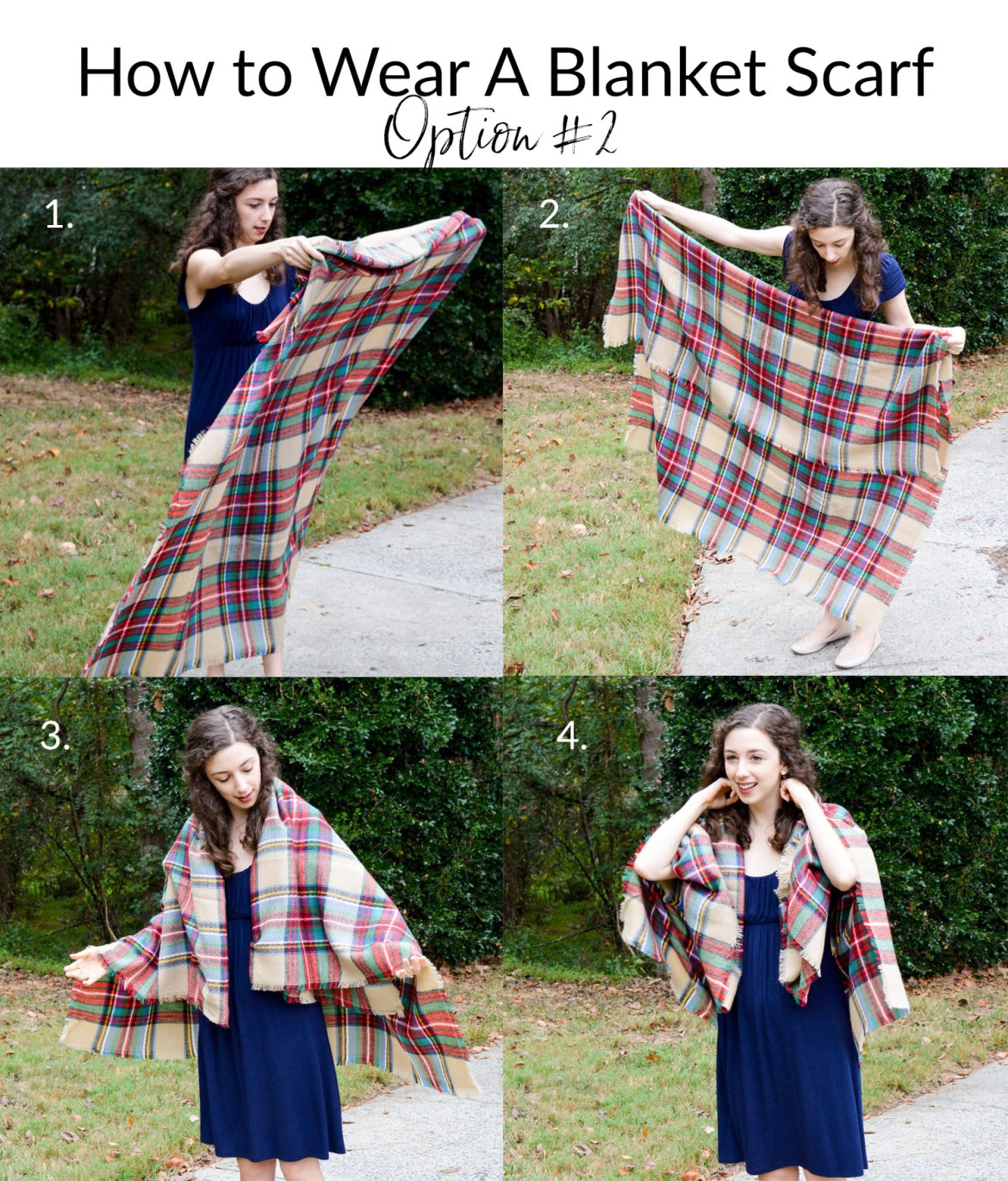 The 2-minute way to style your blanket scarf