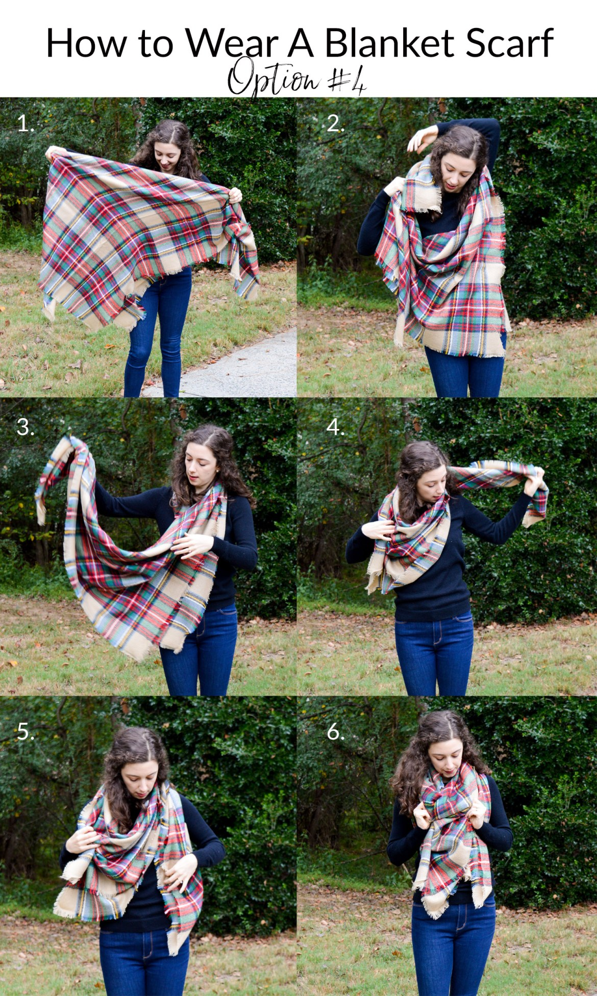 The best way to wear a blanket scarf | Step-by-Step Tutorial on Hunting for Pink Flamingos