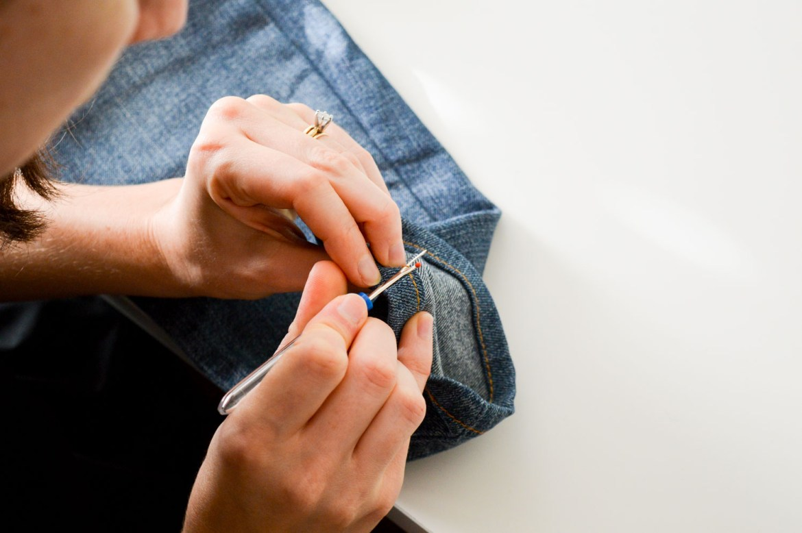 Upcycle your jeans to stay on trend without spending money!