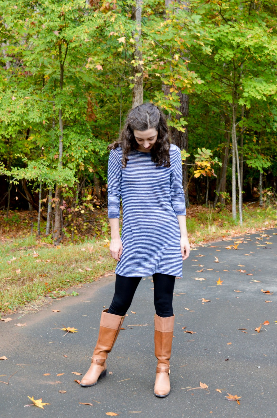 Tunic + leggings + riding boots | The fall outfit that makes you feel like you're wearing lounge clothes