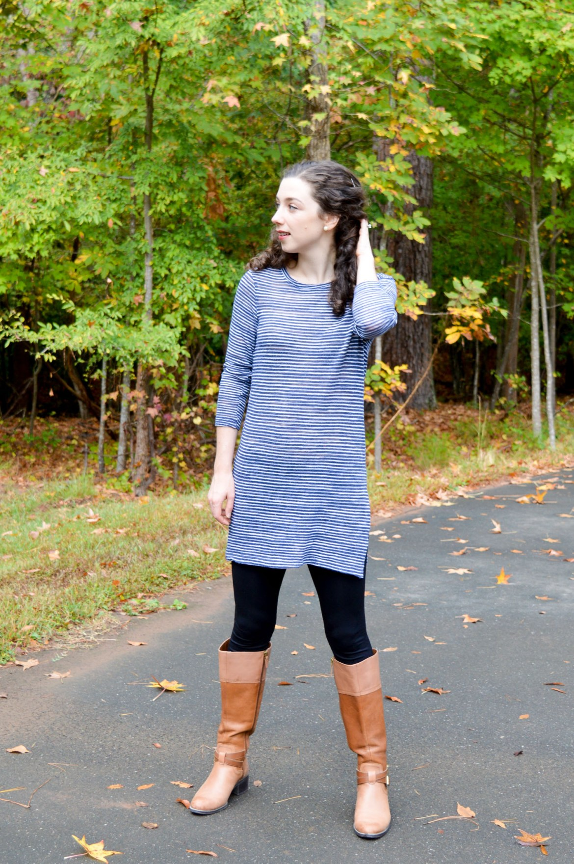 Leggings + Boots | The classic fall look