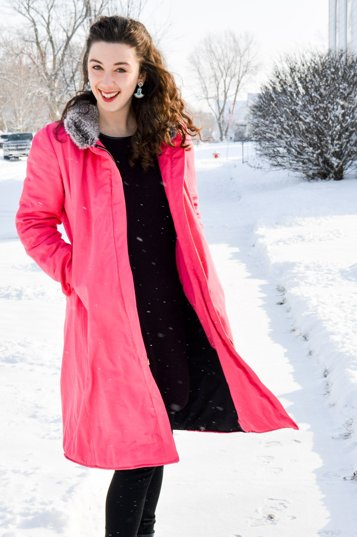 Pink Coat // Winter Style // Hunting for Pink Flamingos