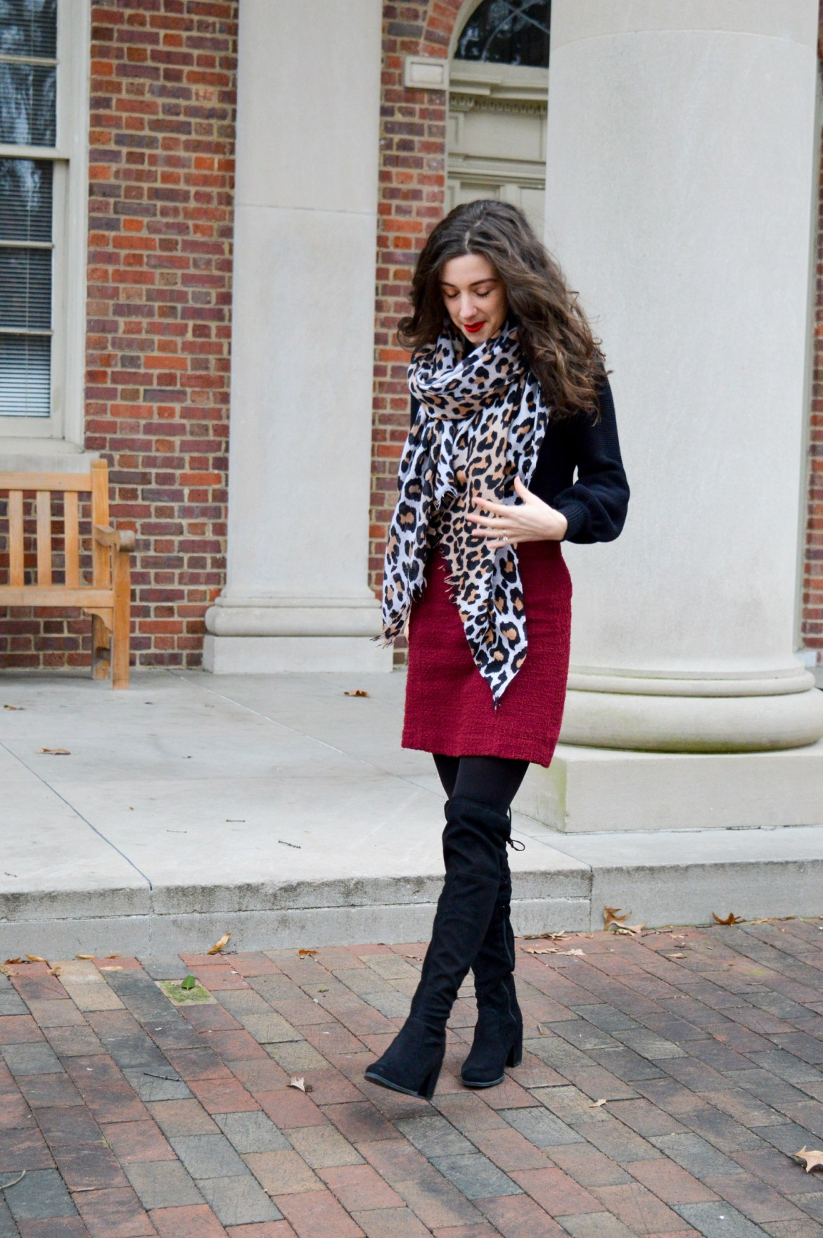Leopard Print Scarf // Winter Outfits // Hunting for Pink Flamingos
