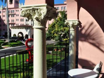 A view from the balcony in the Cloister Building at the Boca Raton Resort & Club. A Romantic Getaway in Florida.