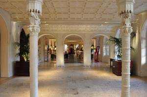 Lobby of the Boca Raton Resort & Club, A Waldorf Astoria Resort. A perfect romantic getaway in Florida.