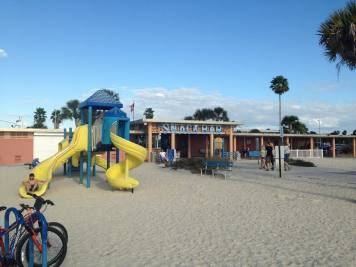 Playground at the beach in Treasure Island, Florida.