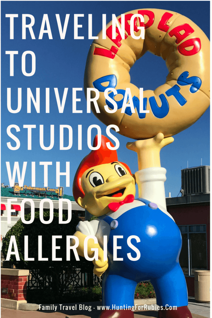 Traveling with Food Allergies- Universal Studios Orlando - www.huntingforrubies.com