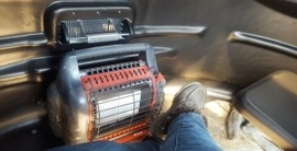 Buddy Heater, Sunflower Heater, 360° Shooting Views to Watch, Wall Vents No Moisture on Lexan