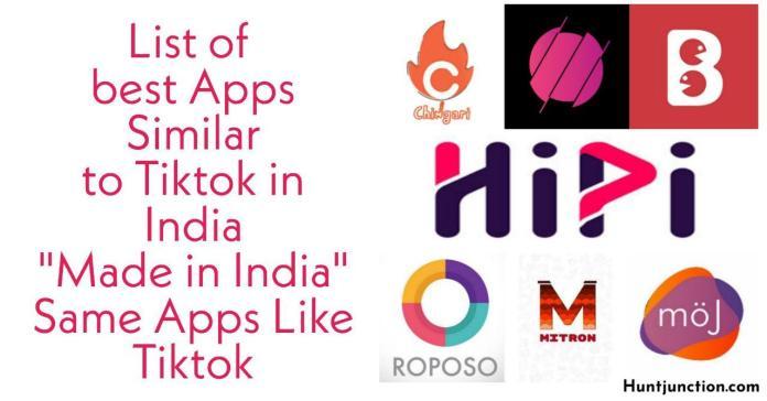 List Of Best Apps similar to Tiktok In India  