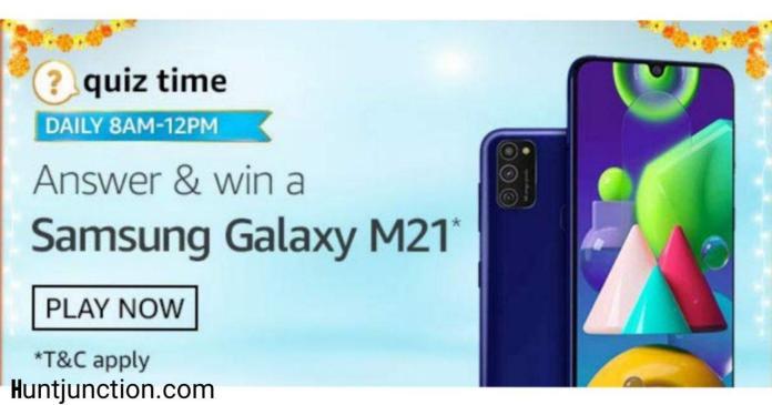 Amazon 4 October 2020 Quiz Answers & Win Samsung Galaxy M21*