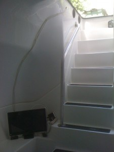 lifesaver storm shelter, with tv
