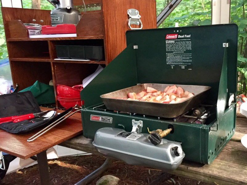 Camp Kitchen in use