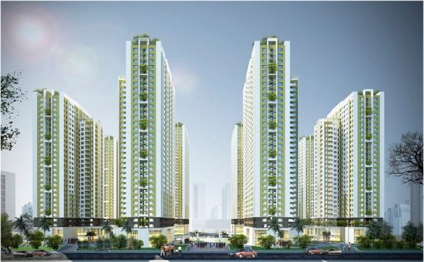 Hình ảnh tòa nhà chung cư an bình city