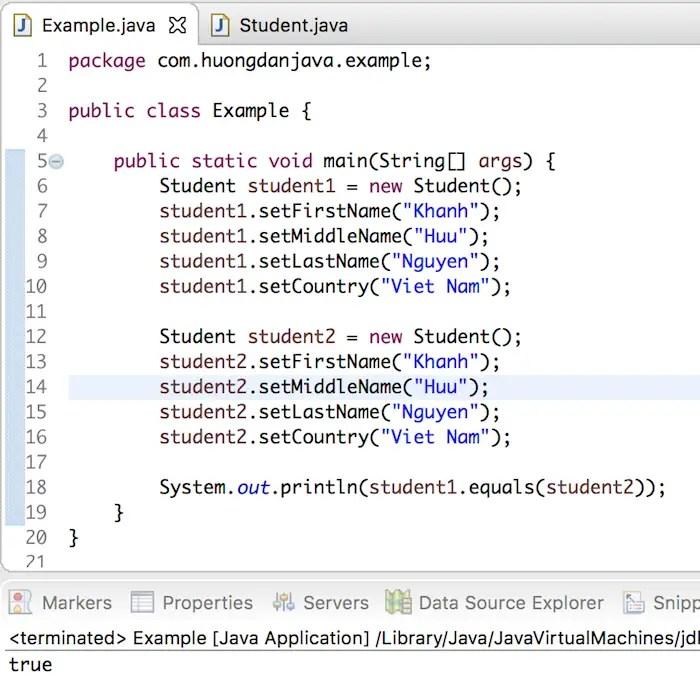 Phương thức equals() và phương thức hashCode() trong Java