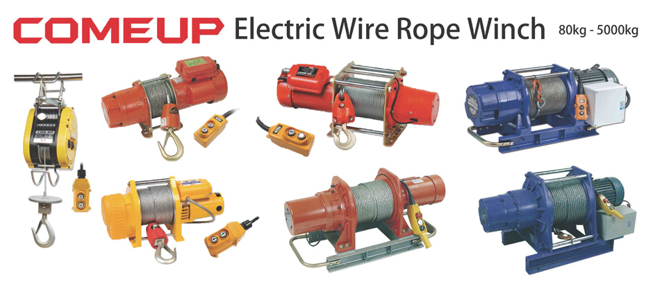 Come Up electric wire rope winch