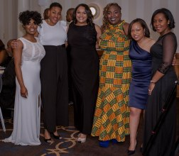 HU MBAs with Tresurer Victoria Saunders on the left