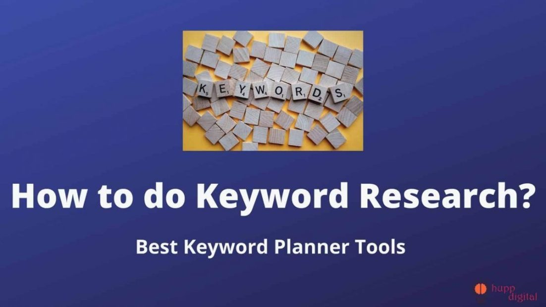 How to do keyword research canva image