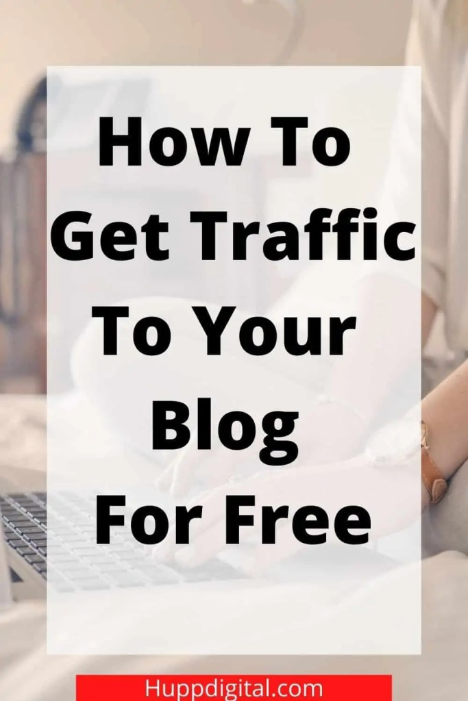 Pinterest pin how to get traffic to your blog