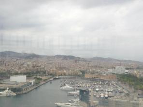 View of Barcelona from the Cable Cars