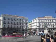 Plaza del Sol (Another main, famous plaza in Madrid)