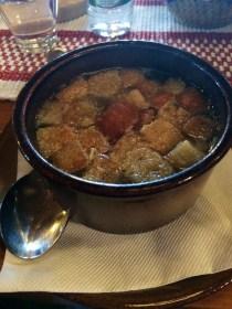 Delicious Garlic Soup in Slovakia