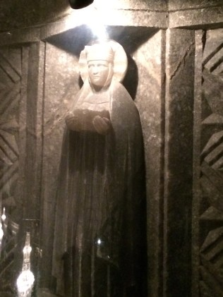 Salt Made Sculpture at Wieliczka Salt Mine Cathedral