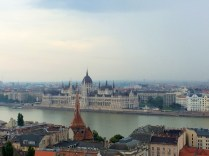 View of Hungarian Parliament Building from Scenic Route