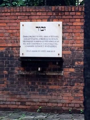 Brick Wall Memorial Representing Ghetto Wall In Budapest