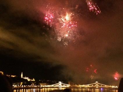 Fireworks Along the Danube River