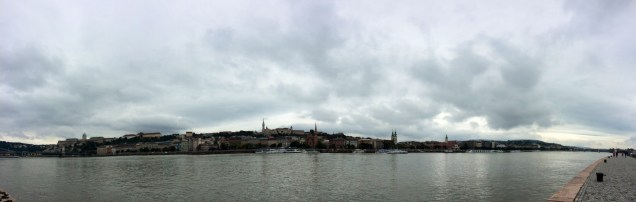 View from The Shoes Along The Danube Promenade