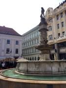 Oldest Fountain In Bratislava Main Square