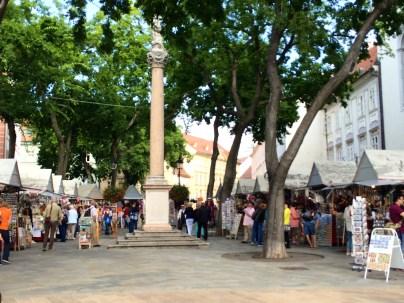Black Plague Column In Marketplace