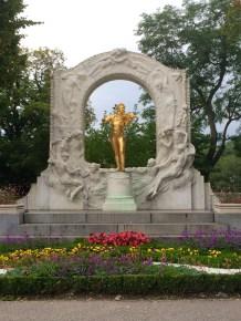 Statue of Johann Strauss In Stadtpark
