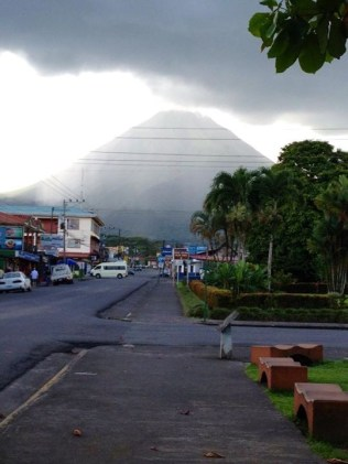 View of Arenal Volcano In Arenal