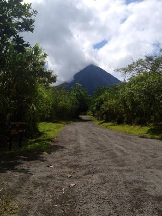 View of Arenal Volcano from Bottom of Las Coladas Trail