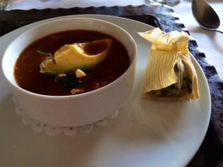Black Bean Soup and a Corn Tamale
