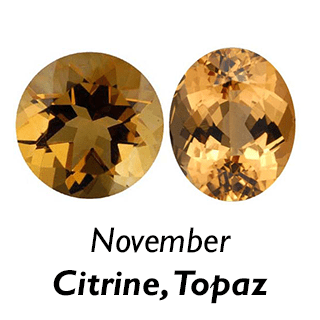 November Birthstones - Citrine and Topaz