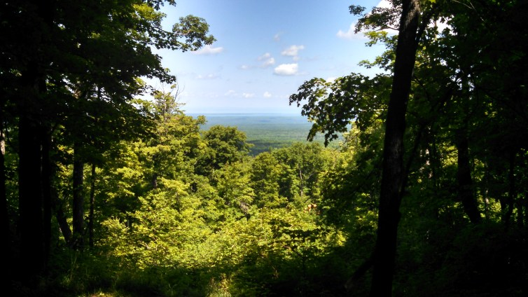 View north from Mt Arvon, all the way to the Keweenaw!