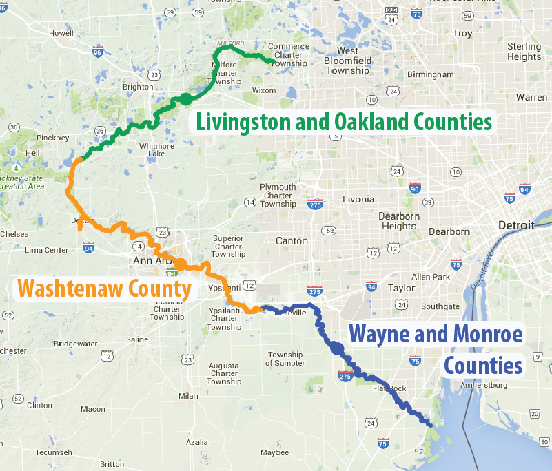County Street Map Oakland Map Michigan