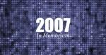 Vuosi 2007 – In Memoriam